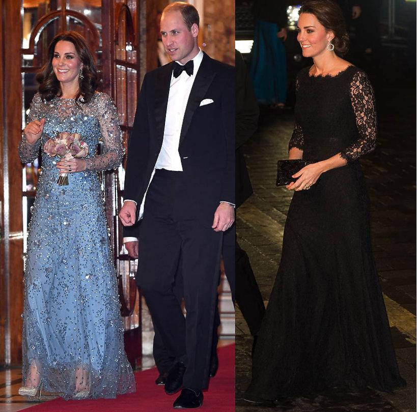Księżna Kate stylizacja na imprezie imprezie Royal Variety Performance 2014 2017