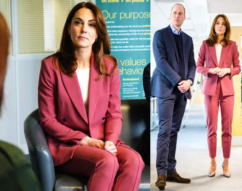 Księżna Kate w garniturze z sieciówki