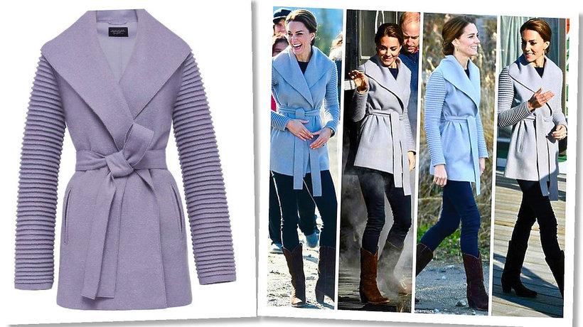 Księżna Kate w płaszczu marki  Sentaler