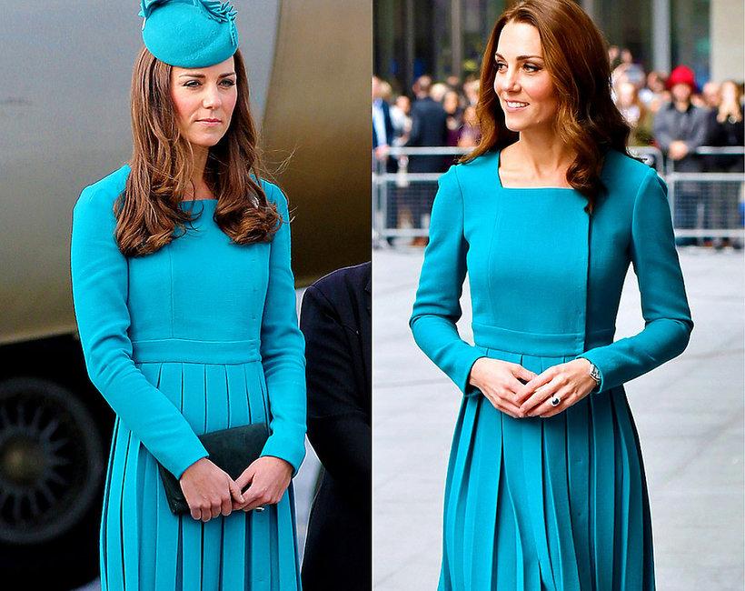 Księżna Kate w turkusowej sukience Emilii Wickstead