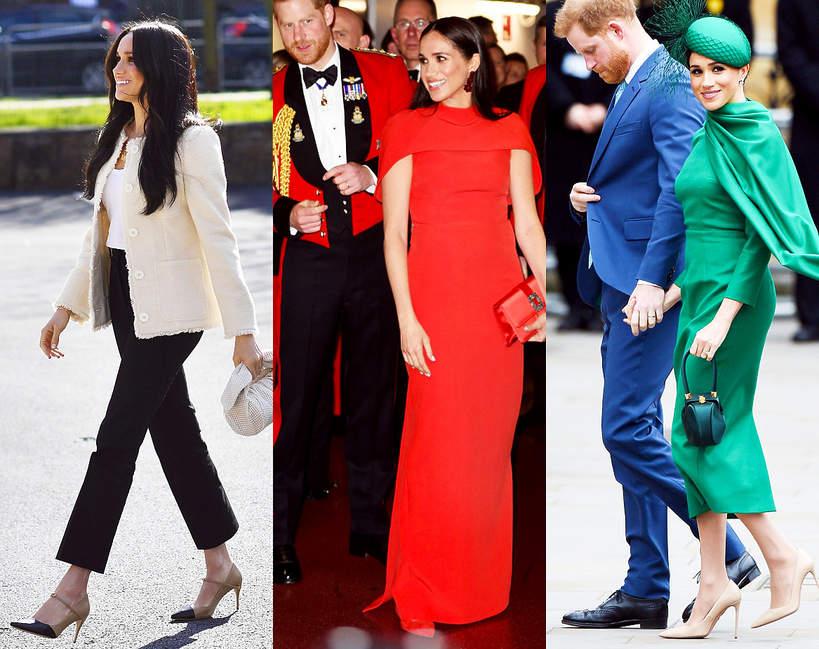 Księżna Meghan ostatnie stylizacje z wizyty w Londynie marki ceny