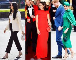 Ostatnie stylizacje księżnej Meghan! Tak żegnała się z rodziną królewską!