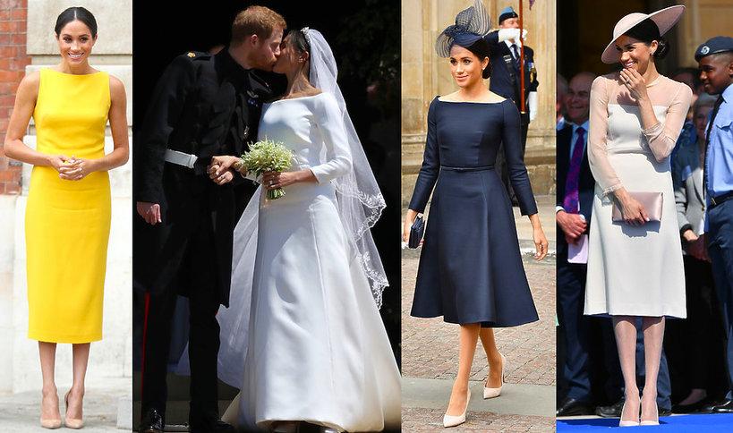 Księżna Meghan stylizacje 2018 roku