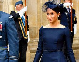 Księżna Meghan w czarnej sukni domu mody Dior