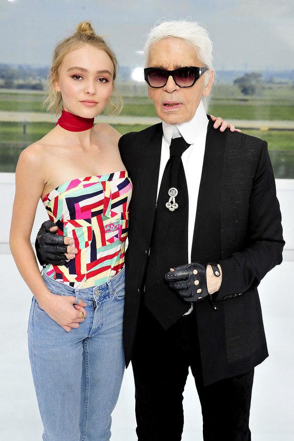 Lily Rose Depp, Karl Lagerfeld