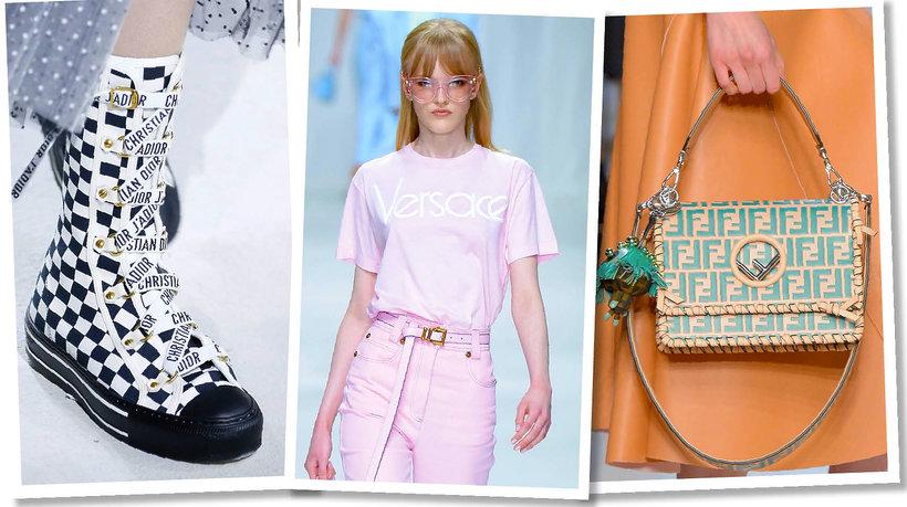 Logomania, trendy na wiosnę lato 2018