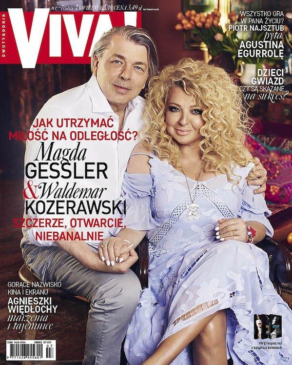 Magda Gessler z partnerem na okładce VIVY