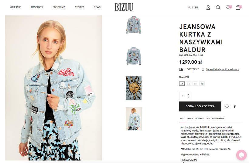 Małgorzata Socha na wakacjach w modnej dżinsowej kurtce polskiej marki Bizuu