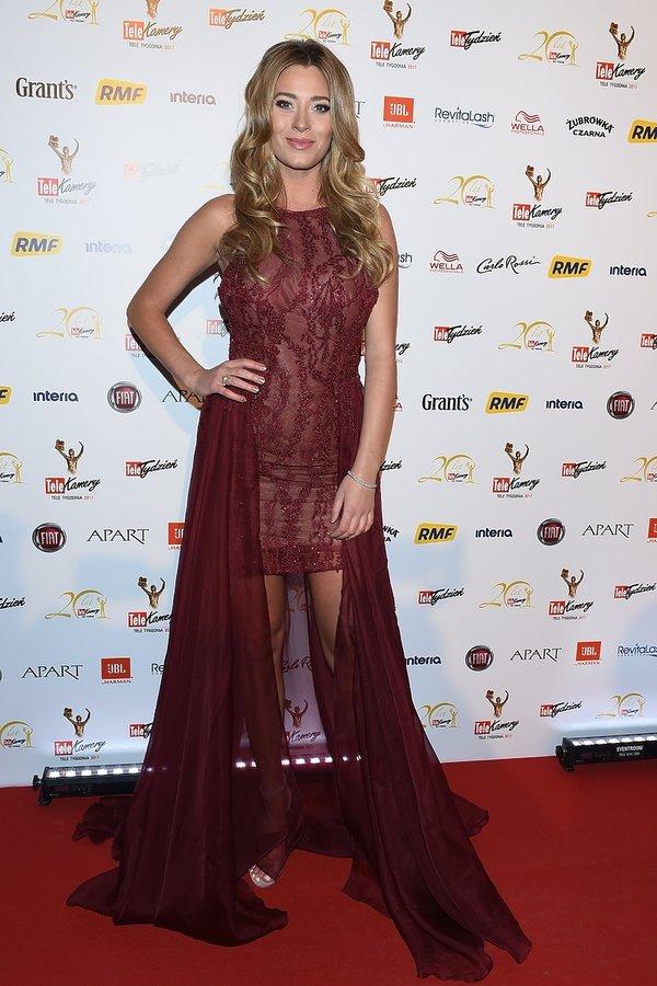 Marcelina Zawadzka na gali Telekamery 2017
