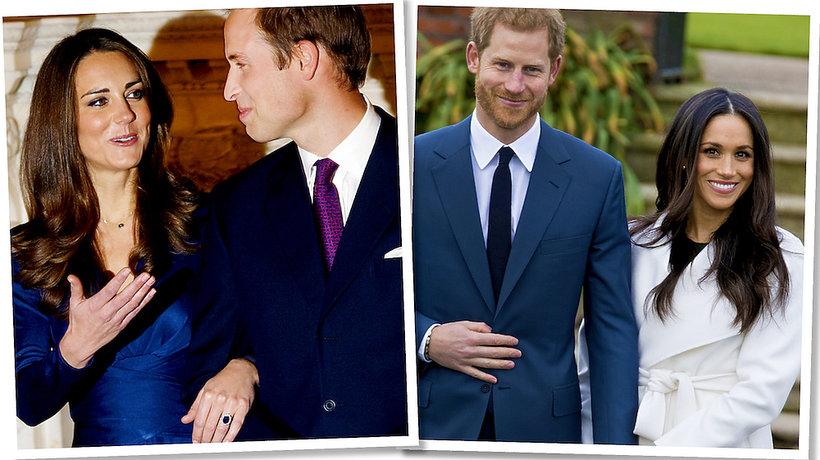 Meghan Markle, księżna Kate zaręczynowe stylizacje