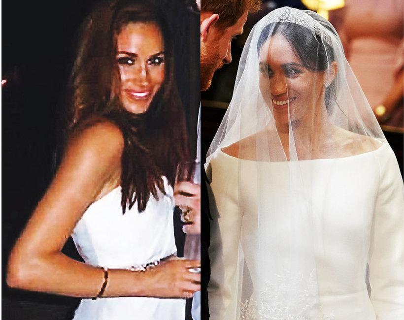 Meghan Markle  suknia ślubna z pierwszego i drugiego ślubu