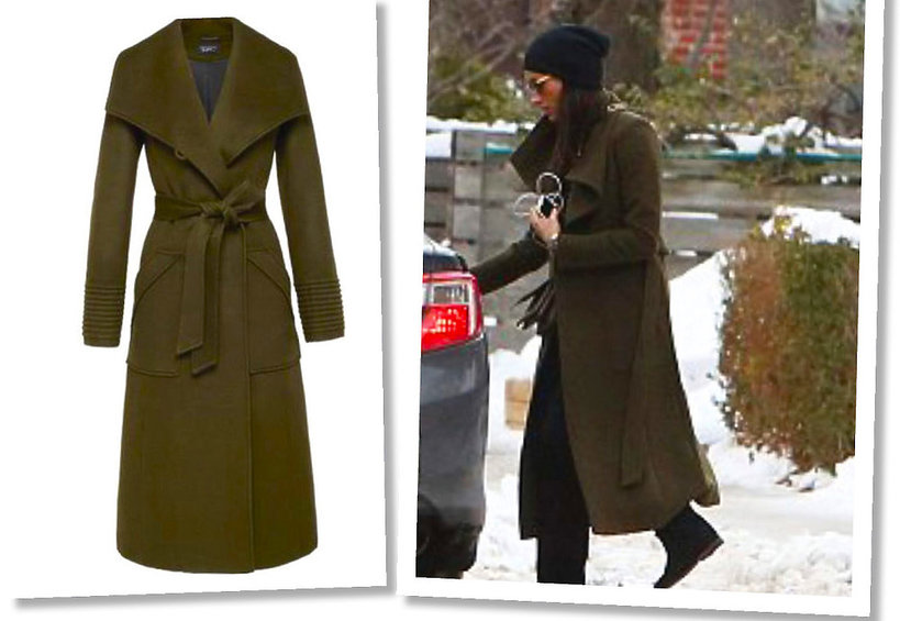 Meghan Markle w płaszczu marki  Sentaler