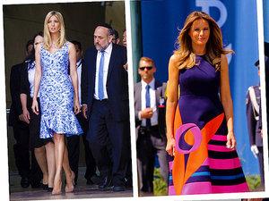 Melania Ivanka Trump stylizacje wizyta w Polsce