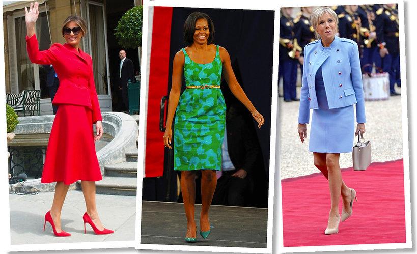 Melania Trump, Michelle Obama,  Brigitte Macron
