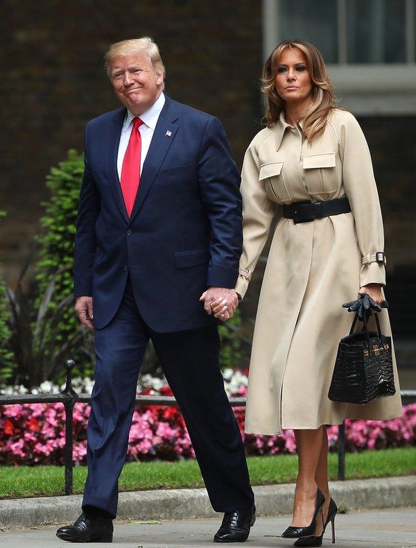 Melania Trump- stylizacje wizyta Anglia 2019