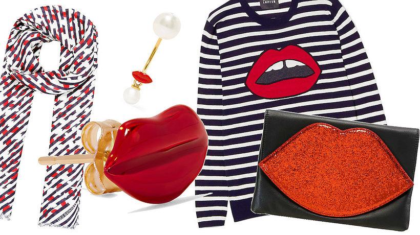 Międzynarodowy Dzień Pocałunków, ubrania i dodatki z motywem ust
