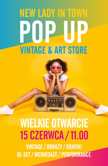 Moda na styl vintage, POP UP Vintage & Art Store w Warszawie