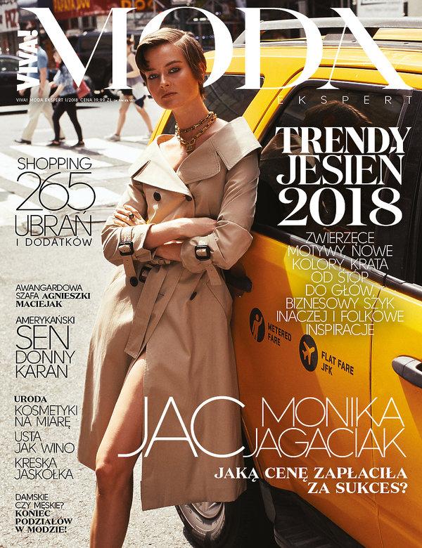 Monika Jac Jagaciak na okładce VIVA! MODA! na jesień 2018
