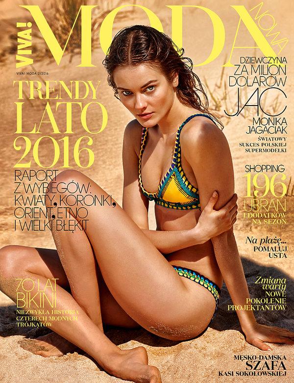 Monika JAC Jagaciak w magazynie Viva! Moda!