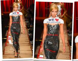 Moschino sprzedaje za 2700 złotych worek z pralni chemicznej jako… sukienkę!