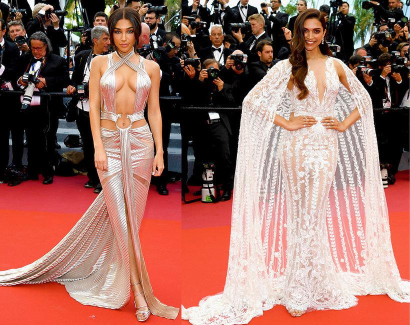 Nagie suknie na czerwonym dywanie w Cannes 2018