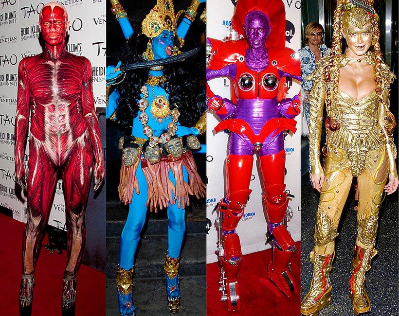 Najlepsze kostiumy heidi klum halloween