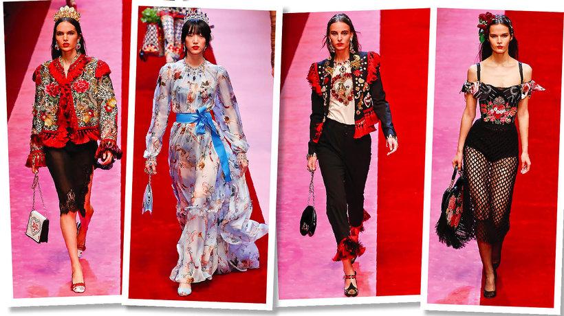 Najlepszy pokaz Dolce&Gabbana wiosna 2018 trendy 2018