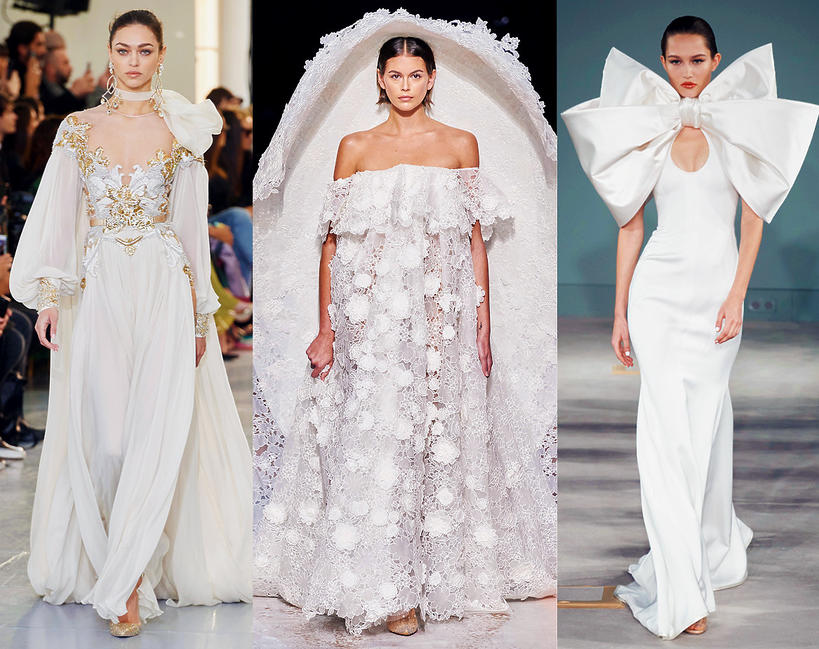 najpiękniejsze kreacje ślubne z pokazów haute couture na wiosnę 2020