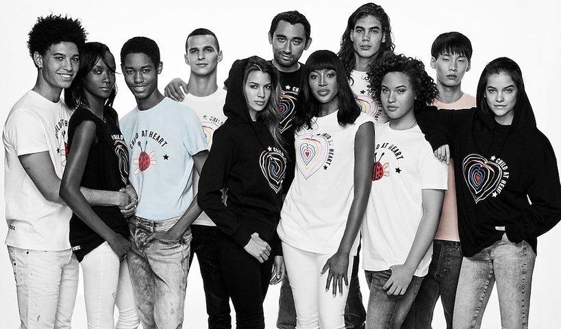 """Naomi Campbell i Diesel kolekcja """"Child At Heart"""" dochód ze sprzedaży ma wspomóc dzieci uchodźców"""