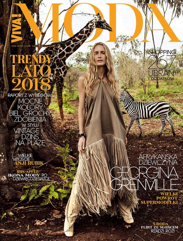 Nowa VIVA! MODA na lato 2018 na okładce modelka Georgina Grenville