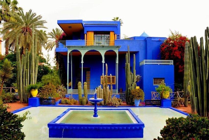 Ogród Jardin Majorelle w Marrakeszu