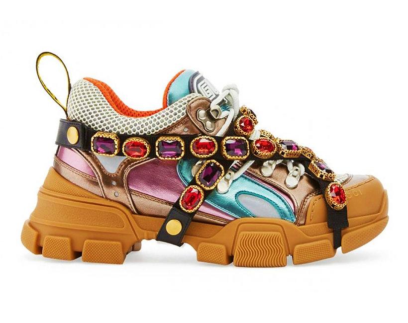 Ozdobione kamieniami sneakersy Gucci