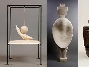Pablo Picasso i Alberto Giacometti na wystawie w Paryżu