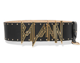 Pasek z dużym logo Balmain