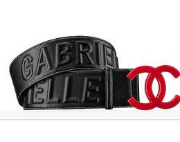 Pasek z dużym logo Chanel
