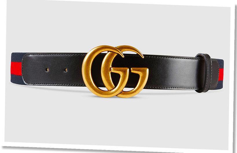 Pasek z dużym logo Gucci