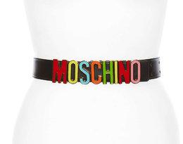 Pasek z dużym logo Moschino