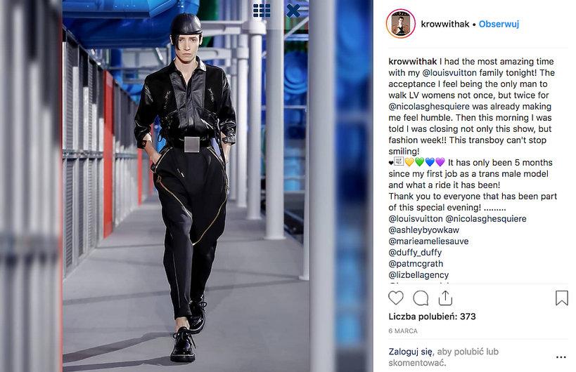Pierwszy transseksualny model gwiazdą pokazów w Paryżu