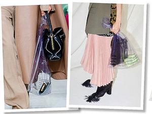 Plastikowa torba na zakupy domu mody Céline za trzy tysiące złotych