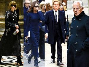 """Pogrzeb redaktor naczelnej włoskiego """"Vogue'a"""", Franca Sozzani"""