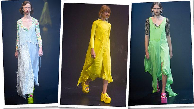 Pokaz Balenciaga na wiosnę 2018, buty Crocsy na platformach