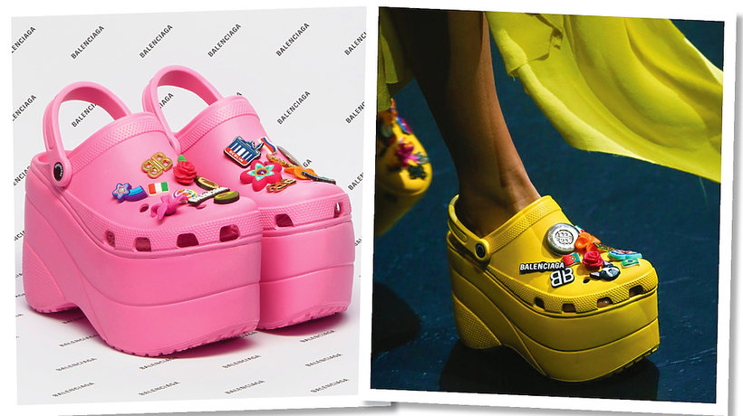 Pokaz Balenciaga na wiosnę 2018, buty Crocsy na platformach - MAIN TOPIC