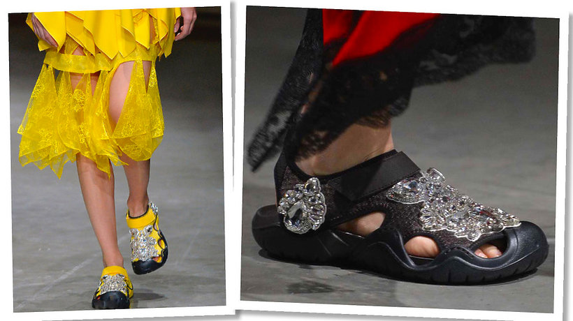 Pokaz Christophera Kane na wiosnę 2017 , buty Crocsy