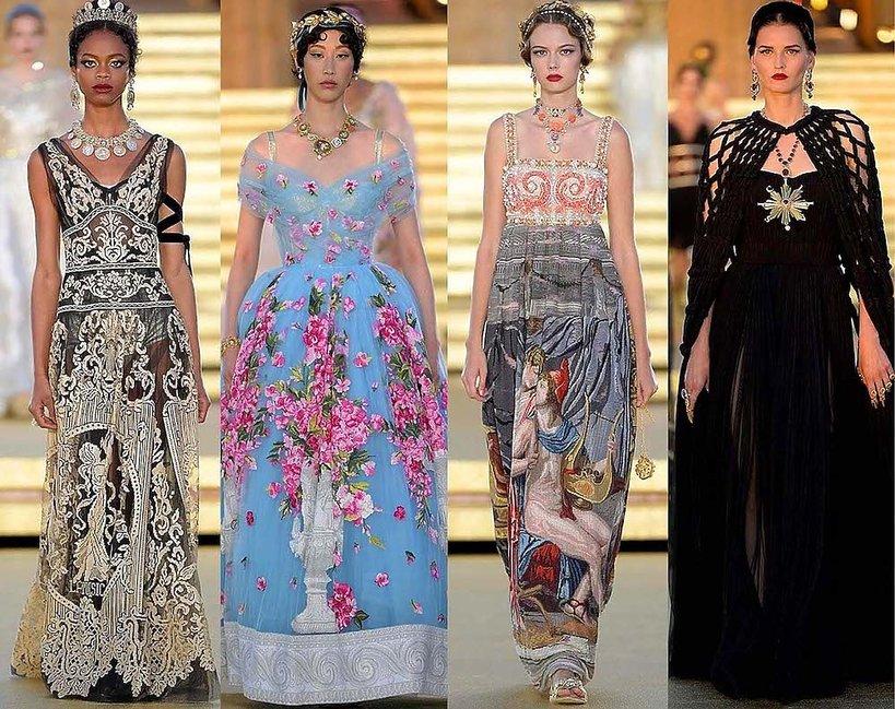 Pokaz Dolce&Gabbana Alta Moda w Dolinie Świątyń na Sycylii