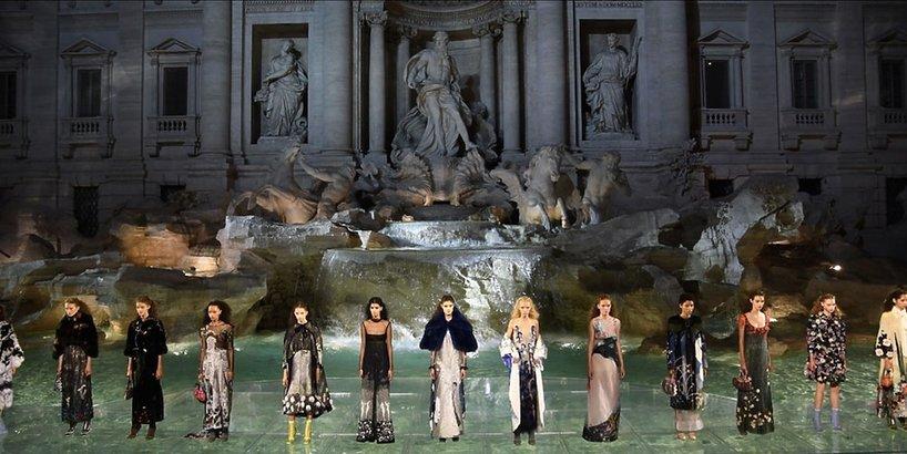 Pokaz Fendi w Rzymie
