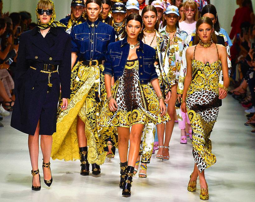 Pokaz Versace na wiosnę 2018