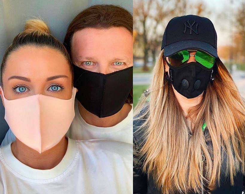 Polskie gwiazdy noszą maski ochronne