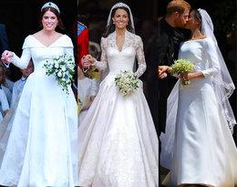 Kate, Meghan, Eugenia... Która z nich miała najpiękniejszą suknię ślubną?