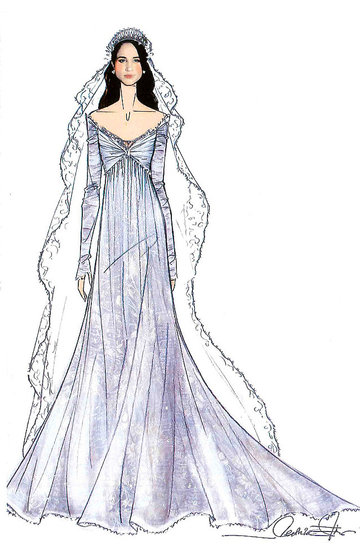 Projekty sukni ślubnej Meghan Markle