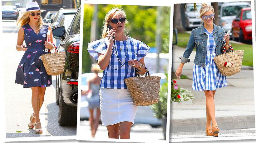 Reese Witherspoon z torbą koszykiem